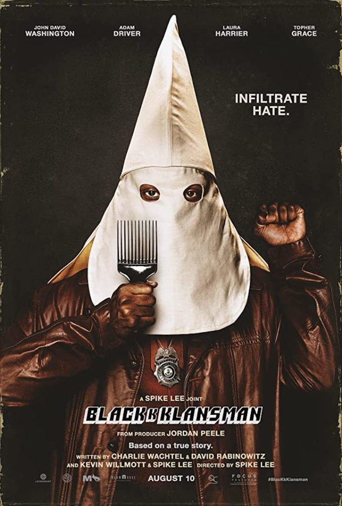 blackkklansman poster cinema inferno